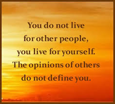 opinion of others